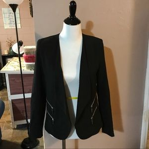 Black Zipper Blazer ✨